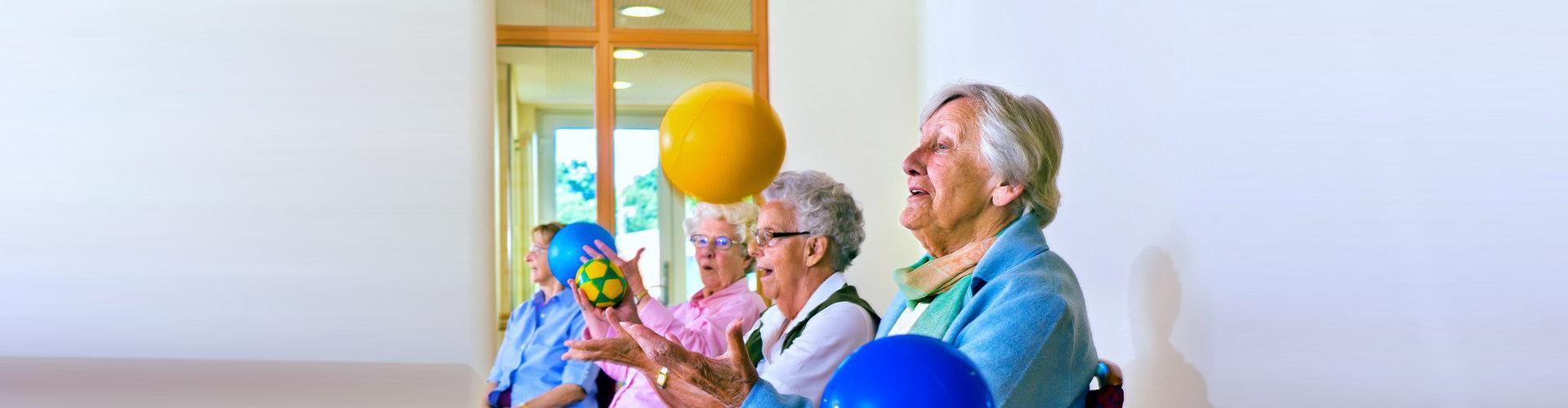 group of seniors playing